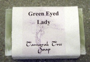 Tamara's patchouli-lime Green Eyed Lady Soap